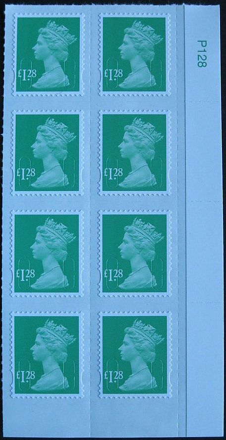2013 GB - SGU2934-13 £1.28 Emerald Green (D) DATE BLK ERROR MNH